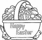 Easter Basket Coloring Pages Egg Printable Happy Bunny Foods Chick Pl Google Vegetable Getdrawings Getcolorings Drawing sketch template