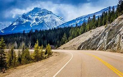 Road Canada Mountain Nature Desktop Wallpapers Forest