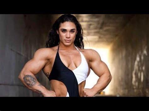 huge muscles girl kristina nicole workout female