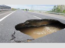 Hell on Earth Huge Unavoidable Highway Pothole