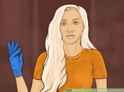 How To Dye Your Hair With Washable Markers