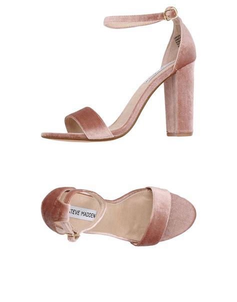 lyst steve madden sandals  pink