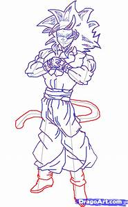 Hoe to draw Goku Super Saiyan 4, Step by Step, Dragon Ball ...