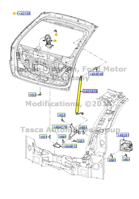 2016 Ford Edge Diagram by New Oem Power Liftgate Latch Piston 11 15 Ford Edge