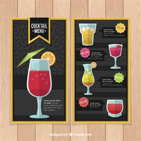 Die mischung der entscheidenden zutat. Schwarze und gelbe cocktailkarte vorlage   Download der kostenlosen Vektor
