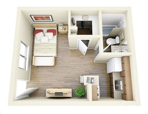 Interior Design Ideas For One Bedroom Apartments by 10 Ideas For One Bedroom Apartment Floor Plans