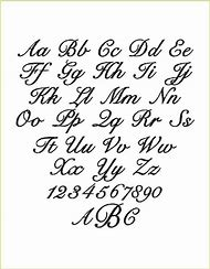 Fancy Handwriting Fonts Letters