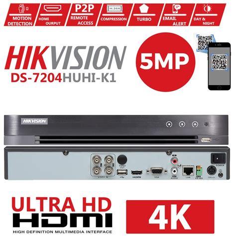 5mp hikvision 8 channel dvr recorder ds 7208huhi k1