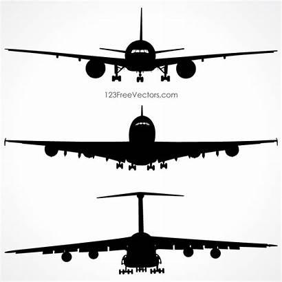 Silhouette Airplane Airplanes Clipart Aviones 123freevectors Silueta
