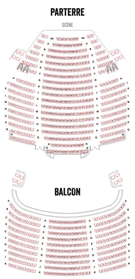 Plan De Salle  Théâtre Du Nouveau Mondethéâtre Du Nouveau