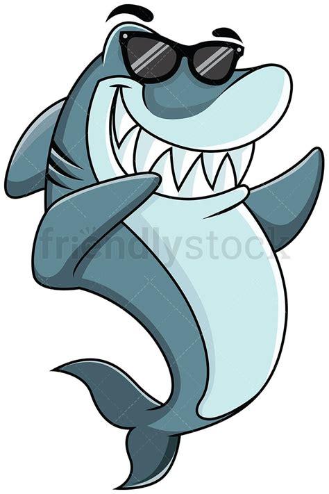 dabbing shark   animals wearing shades shark art