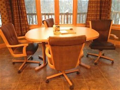 Chromcraft Swivel Kitchen Chairs by Chromcraft Swivel Tilt Caster Kitchen Chairs 6 On Popscreen