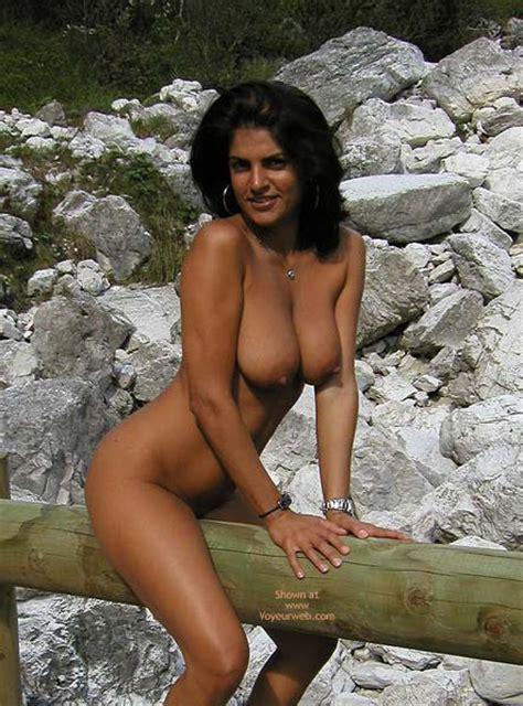 Big Tits Brunette January Voyeur Web Hall Of Fame