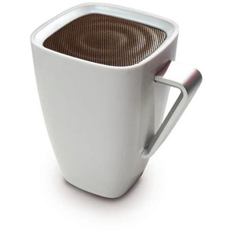 Coffee cup bluetooth speaker product code: Mighty Sound Mug Bluetooth Wireless Portable Speaker iPhone iPad White/Brown NEW   eBay