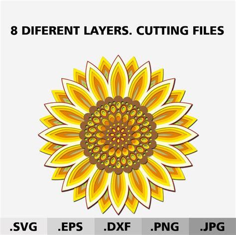 Love the shadowbox mandala design. 3d Mandala Sunflower SVG files for Cricut. Flower SVG ...