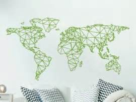 Carte Du Monde Geometrique Sticker by Sticker Mappemonde Magic Stickers