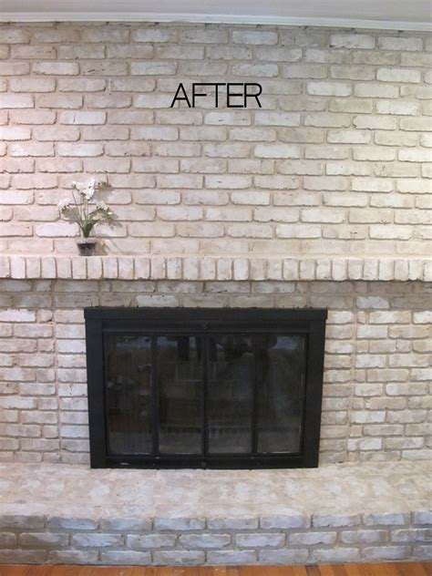 paint brick fireplace tutorial how to paint a brick fireplace