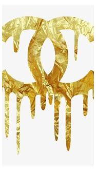 Chanel - Dripping - Gold - Logo ️more Pins Like This ...