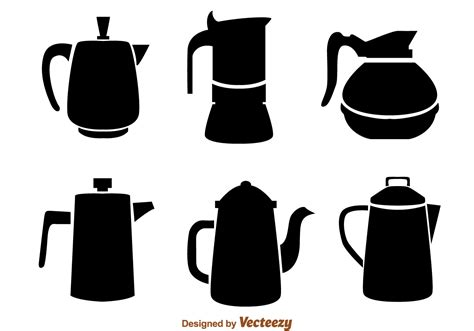 Coffee Pot Black Icons   Download Free Vector Art, Stock