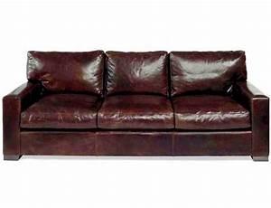 Napa maxwell oversized seating leather sofa set for Oversized sectional sofa set