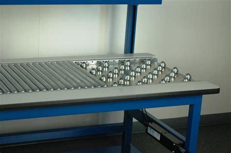 stackbin custom projects roller conveyor work station