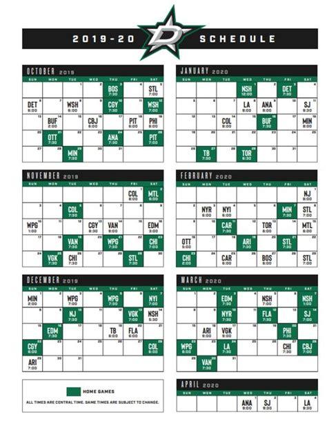 dallas stars release   schedule   fan