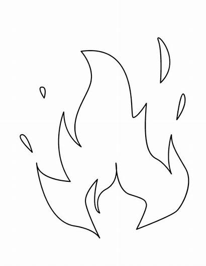 Flame Coloring Fire Pages Flames Printable Colouring