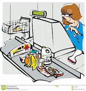 Till operator stock vector. Illustration of check, aisle ...