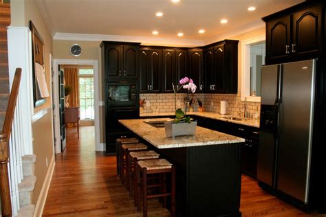 and black kitchen ideas simple tips for painting kitchen cabinets black my