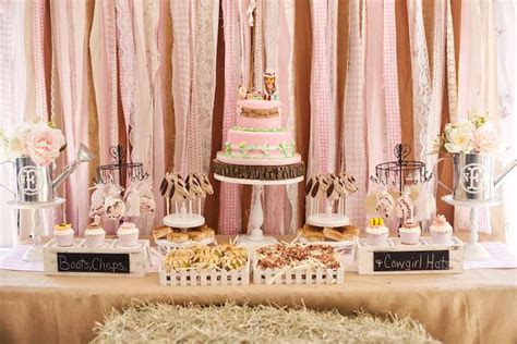 shabby chic western decor kara s party ideas shabby chic cowgirl birthday party