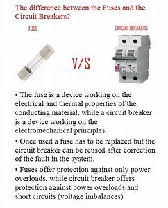The Difference Between The Fuses And The Circuit Breakers