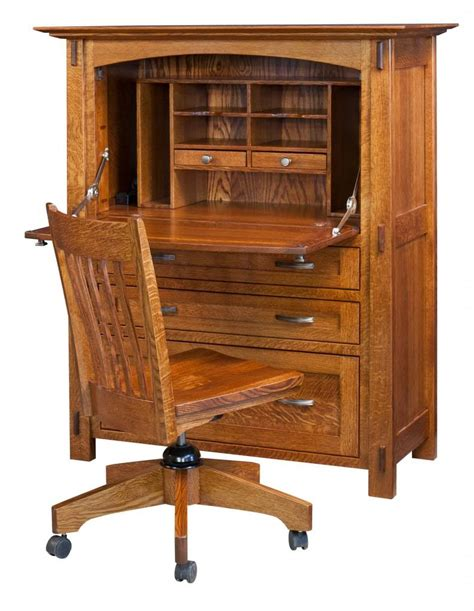 solid wood secretary desk amish modesto computer secretary desk surrey street rustic