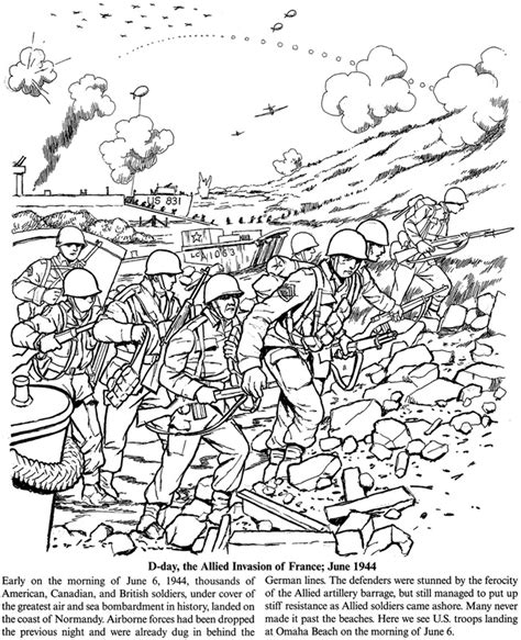 Battlefield Kleurplaat by World War Ii Discovery Kit Dover Publications Coloring