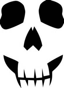 Sugar Skull Pumpkin Stencils by Best Photos Of Skeleton Face Pattern Easy Skull Pumpkin