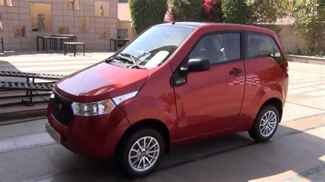 New Car Electrical Features by Mahindra Reva E2o Electric Car Review Exteriors