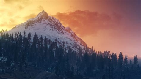 Witcher 3 Landscape Wallpaper Wallpapers Hd The Witcher 3 Wild Hunt Landscape Mountains