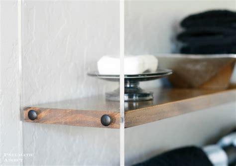 diy wood  acrylic bathroom shelf shelterness
