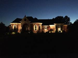 brick house with exterior lighting lawn systems inc With outdoor lighting on brick house