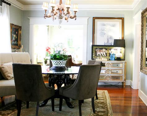 beautiful settee bench in dining room transitional with sherwin williams popular gray next to