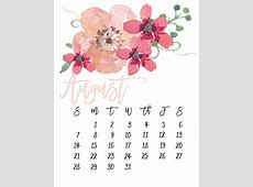 August 2016 Free Pretty Printable Calendar MarinoBambinos