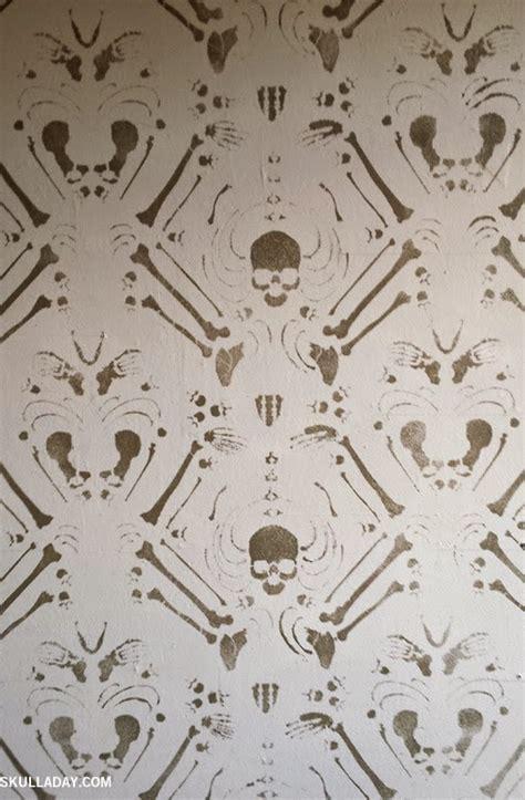 bonus skeleton damask stencil
