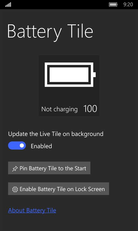 Get Tile App by Get Battery Tile Microsoft Store