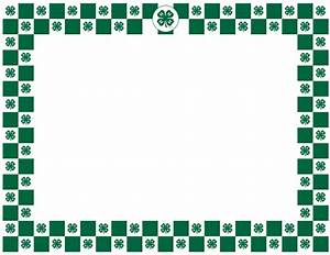 4-H Clover Border 4-H Graphics Pinterest