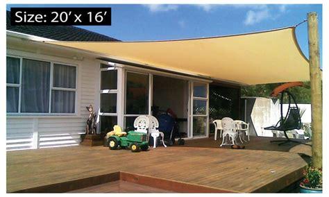 home depot patio rectangle patio sail sun shade canopy cover groupon