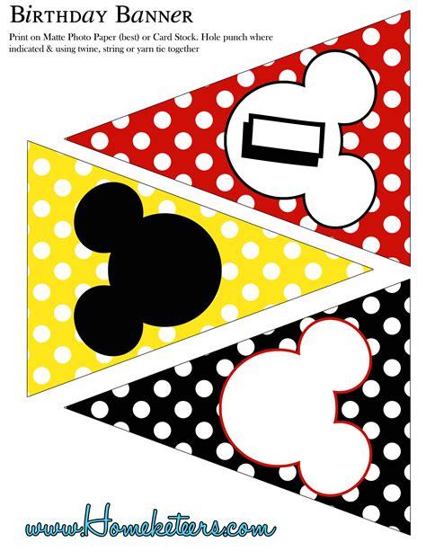 Big Mickey Mouse Party Printable Kit