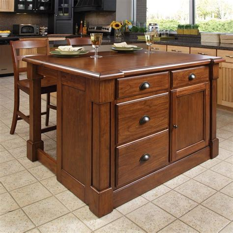 kitchen islands shop home styles brown midcentury kitchen island with 2