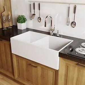 fireclay white kitchen farmhouse sink fc2418su gotken With best brand of paint for kitchen cabinets with honda window sticker