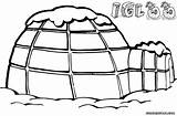 Igloo Coloring Pages sketch template