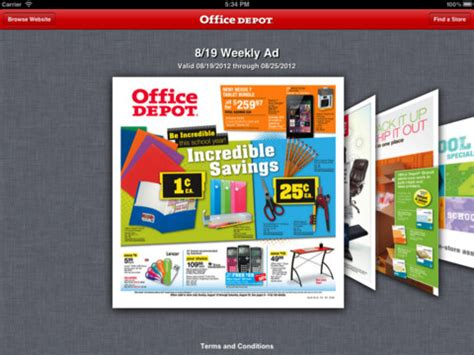 Office Depot App by Office Depot Weekly Ad App For Iphone Lifestyle