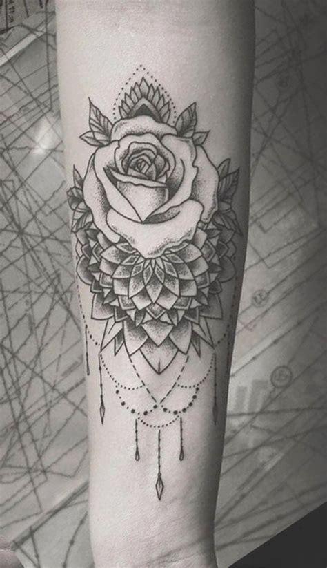 boho black rose chandelier forearm tattoo ideas  women